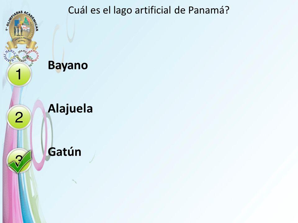 Cuál es el lago artificial de Panamá