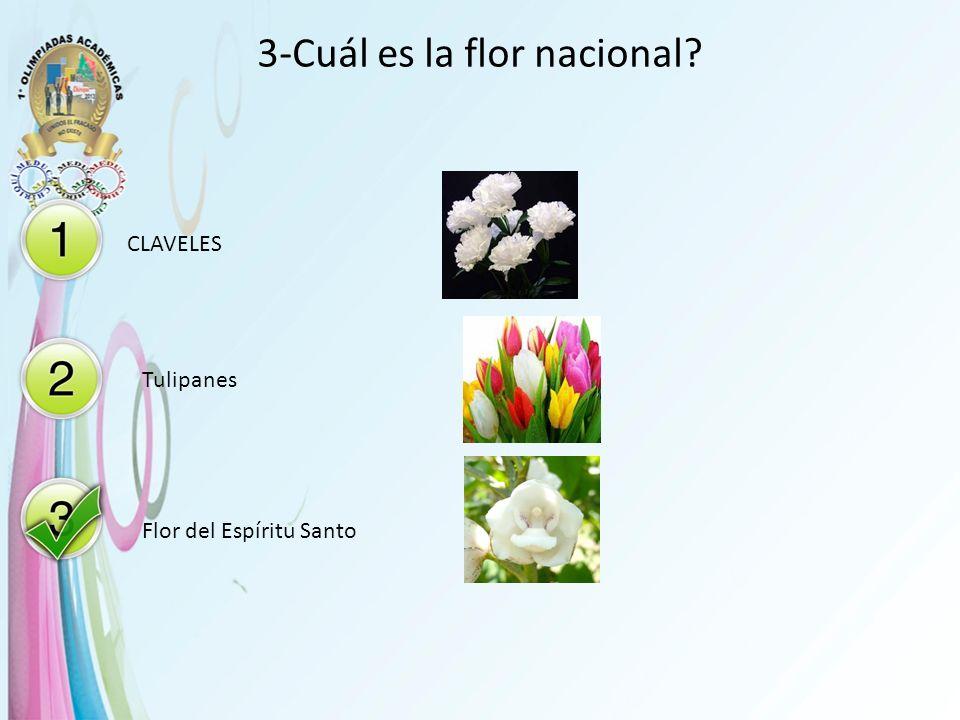3-Cuál es la flor nacional