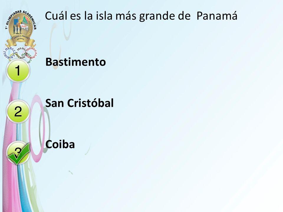 Cuál es la isla más grande de Panamá