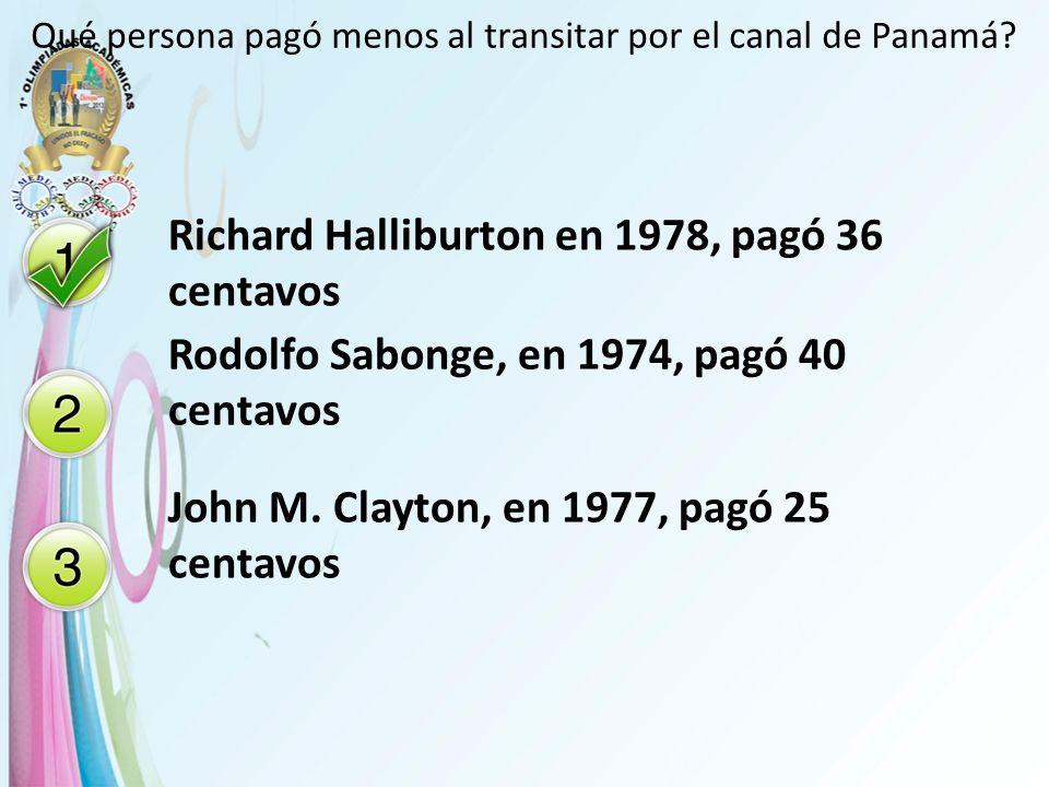 Qué persona pagó menos al transitar por el canal de Panamá