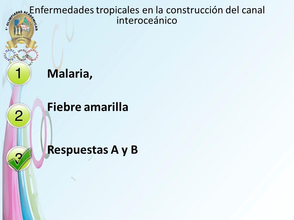 Enfermedades tropicales en la construcción del canal interoceánico