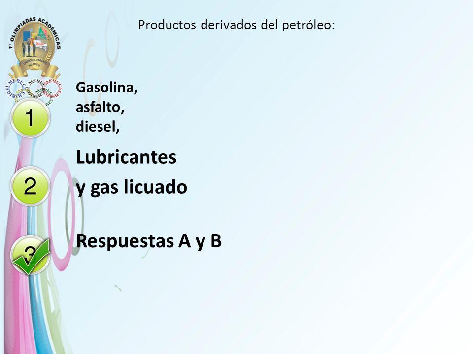 Productos derivados del petróleo: