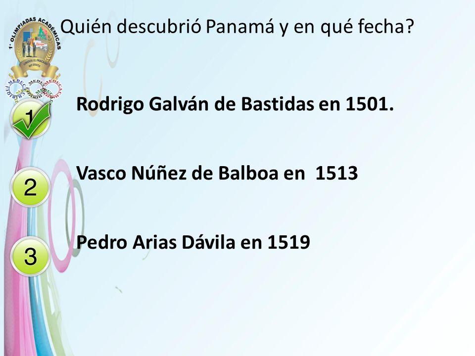 Quién descubrió Panamá y en qué fecha