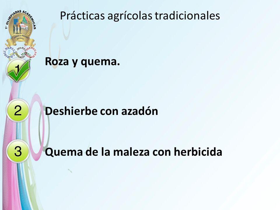 Prácticas agrícolas tradicionales