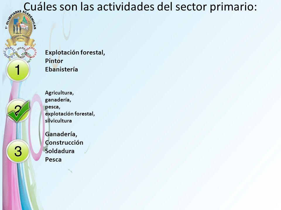 Cuáles son las actividades del sector primario: