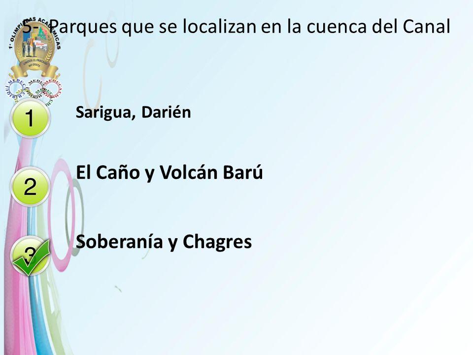 5- Parques que se localizan en la cuenca del Canal