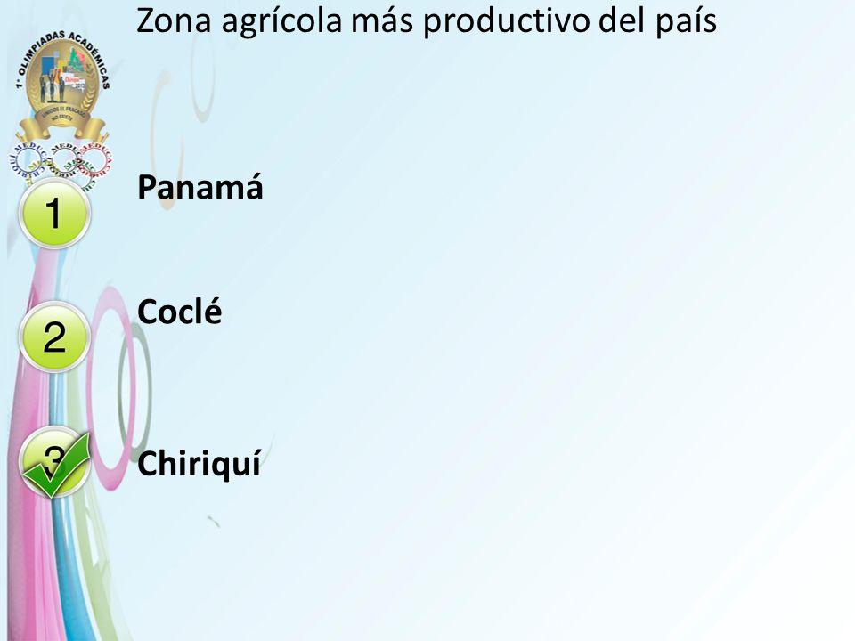 Zona agrícola más productivo del país