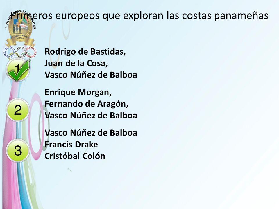 Primeros europeos que exploran las costas panameñas