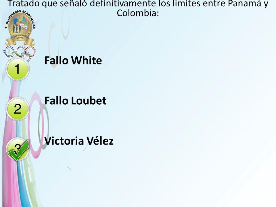 Fallo White Fallo Loubet Victoria Vélez