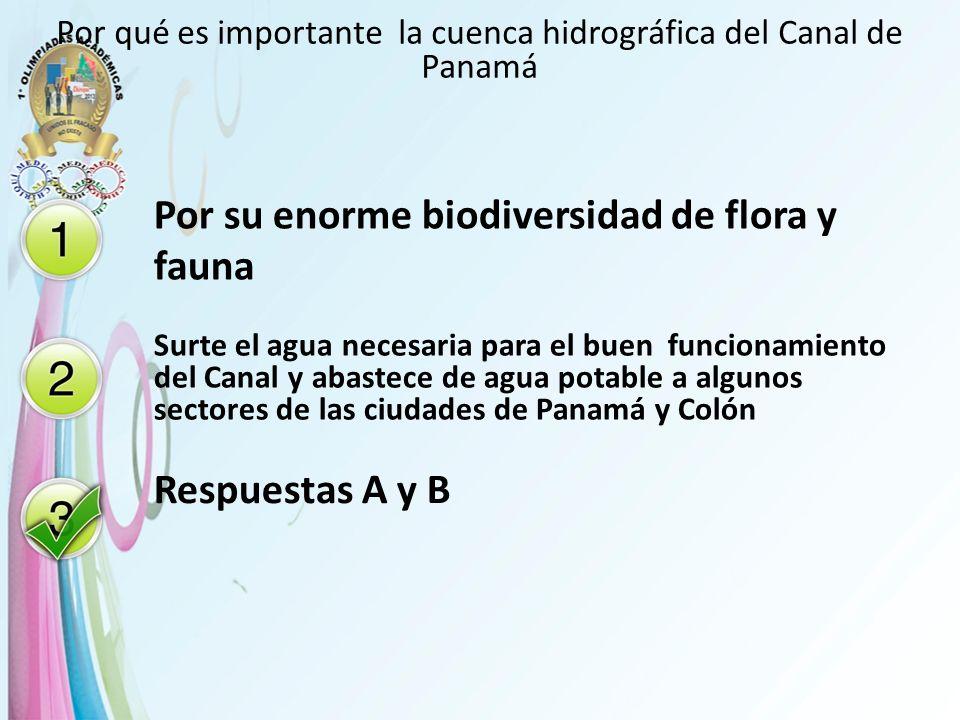 Por qué es importante la cuenca hidrográfica del Canal de Panamá