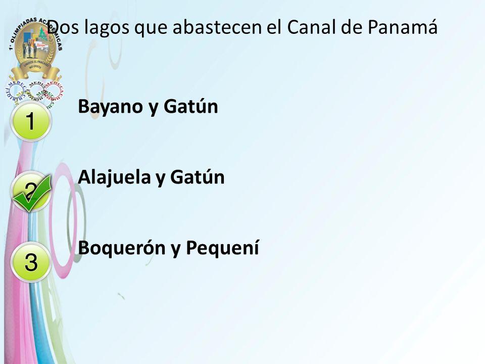 Dos lagos que abastecen el Canal de Panamá