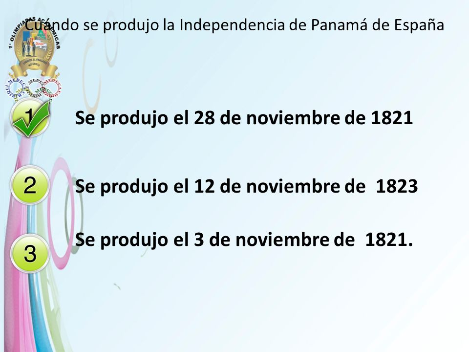 Cuándo se produjo la Independencia de Panamá de España