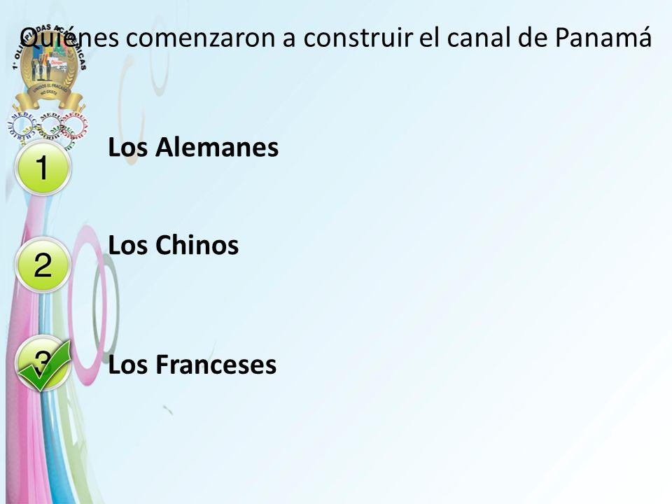 Quiénes comenzaron a construir el canal de Panamá