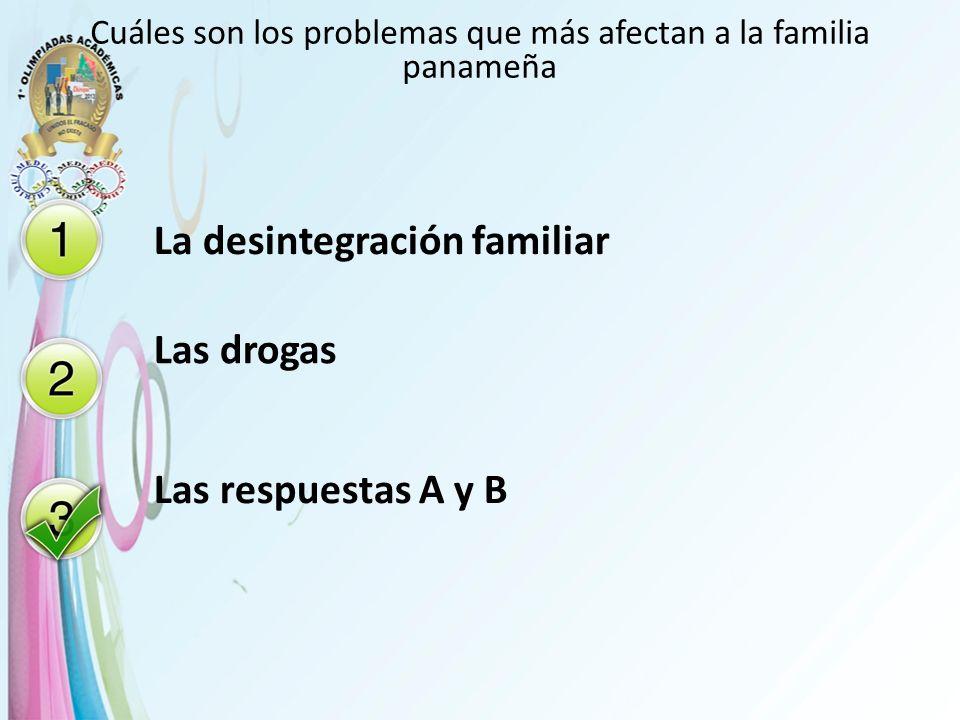 Cuáles son los problemas que más afectan a la familia panameña