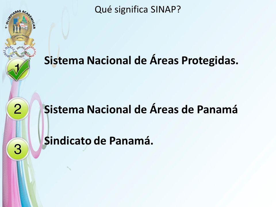 Sistema Nacional de Áreas Protegidas.