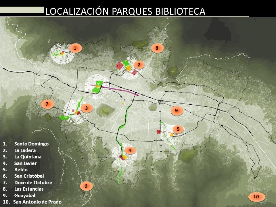 LOCALIZACIÓN PARQUES BIBLIOTECA