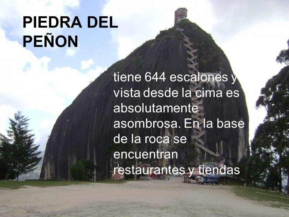 PIEDRA DEL PEÑON tiene 644 escalones y la vista desde la cima es absolutamente asombrosa.