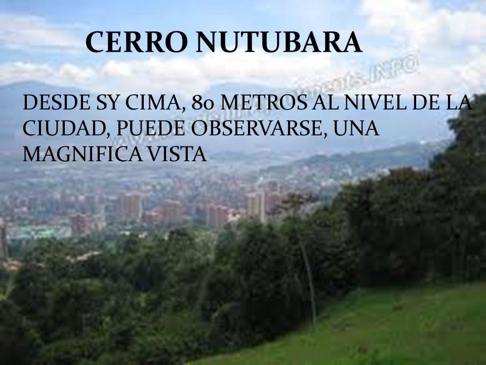 CERRO NUTUBARA DESDE SY CIMA, 80 METROS AL NIVEL DE LA CIUDAD, PUEDE OBSERVARSE, UNA MAGNIFICA VISTA.