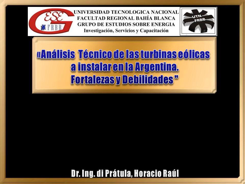 «Análisis Técnico de las turbinas eólicas a instalar en la Argentina.