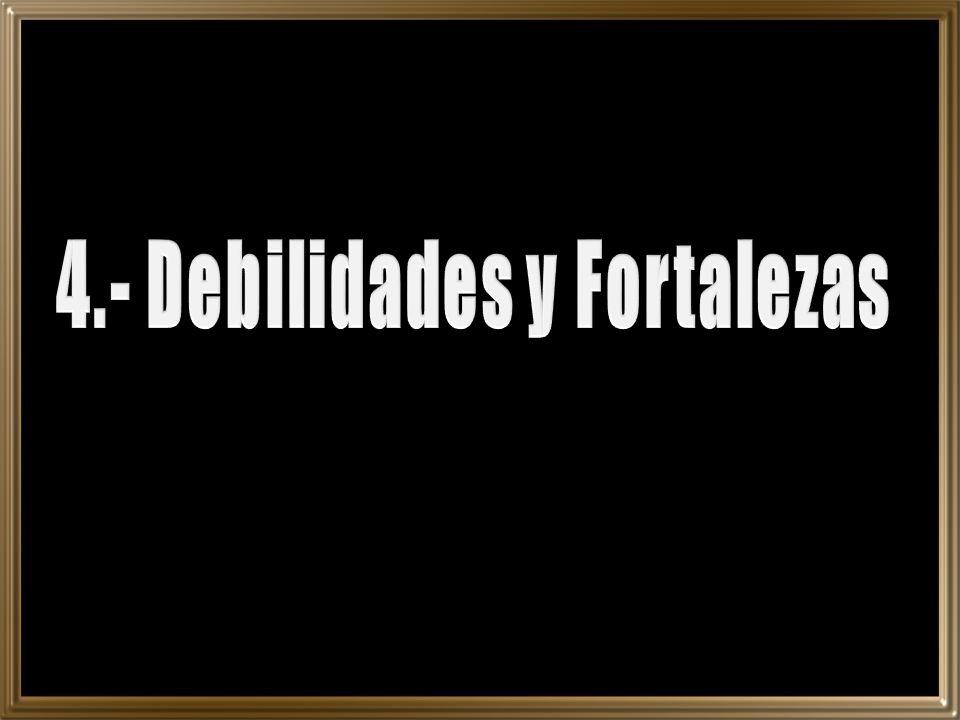 4.- Debilidades y Fortalezas