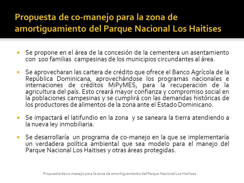 Propuesta de co-manejo para la zona de amortiguamiento del Parque Nacional Los Haitises
