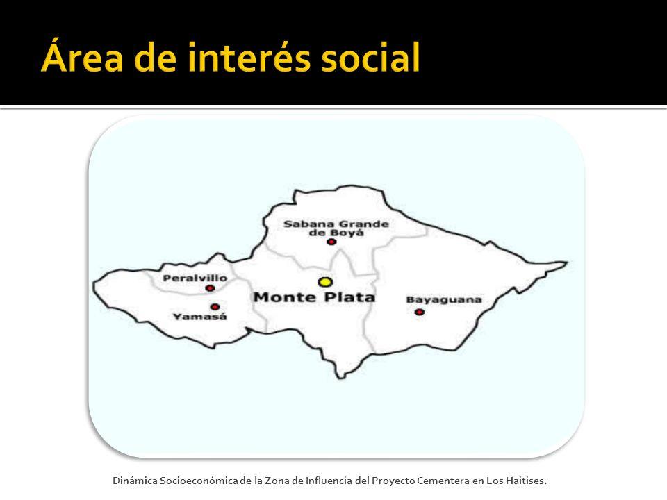 Área de interés social Dinámica Socioeconómica de la Zona de Influencia del Proyecto Cementera en Los Haitises.