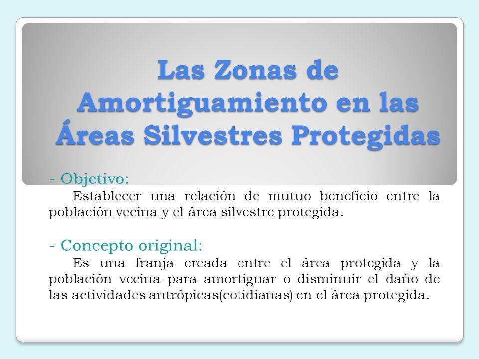Las Zonas de Amortiguamiento en las Áreas Silvestres Protegidas