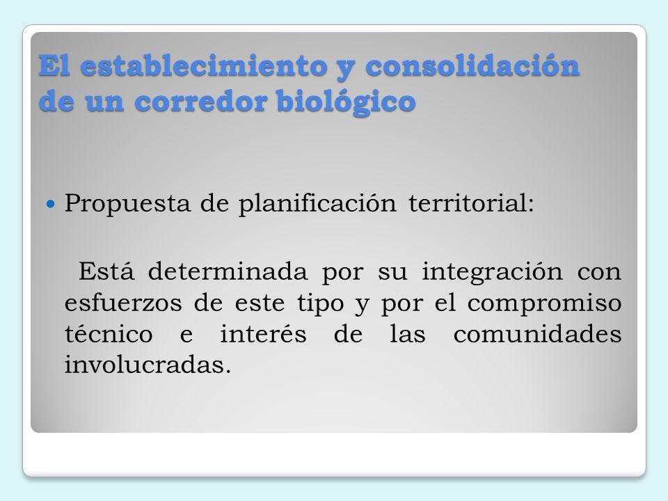 El establecimiento y consolidación de un corredor biológico