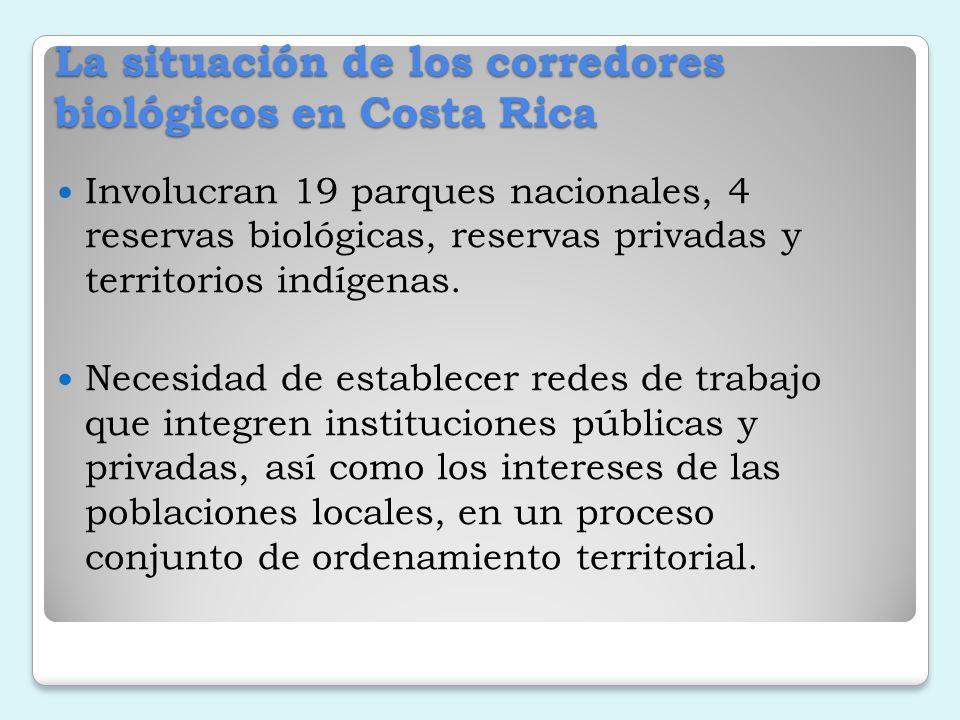 La situación de los corredores biológicos en Costa Rica