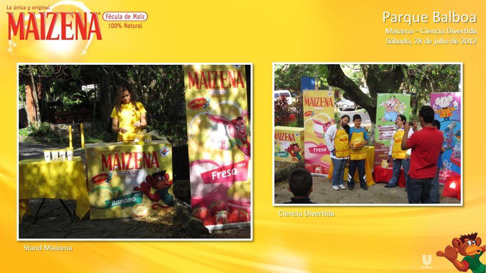 Parque Balboa Maizena – Ciencia Divertida. Sábado, 28 de julio de 2012.
