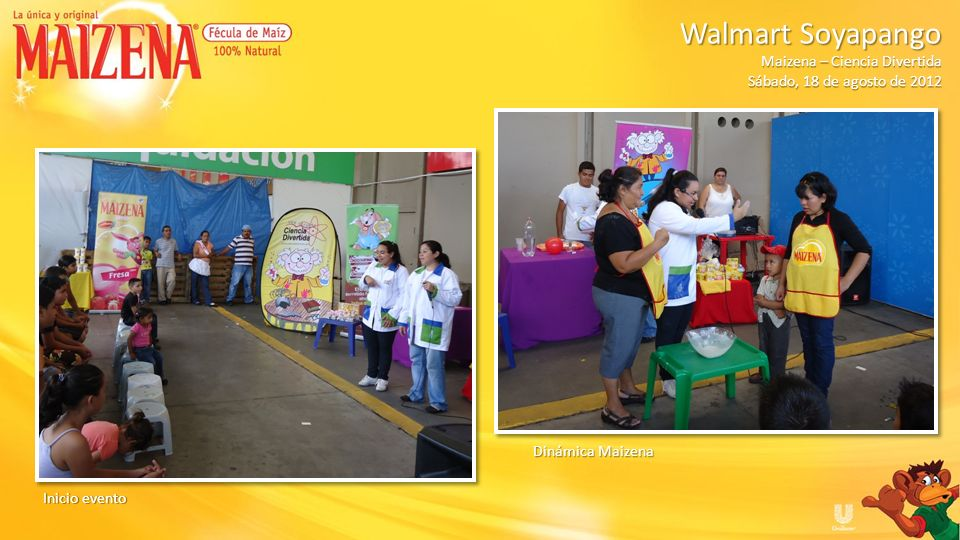 Walmart SoyapangoMaizena – Ciencia Divertida.Sábado, 18 de agosto de 2012.