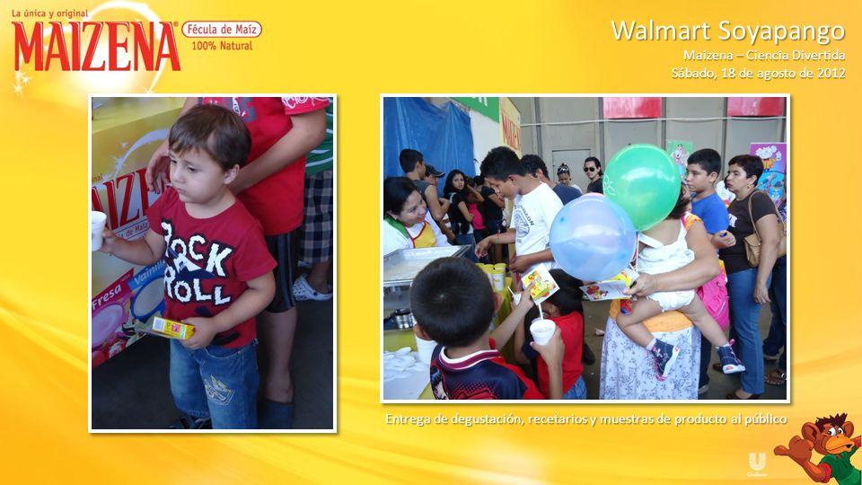 Walmart Soyapango Maizena – Ciencia Divertida. Sábado, 18 de agosto de 2012.