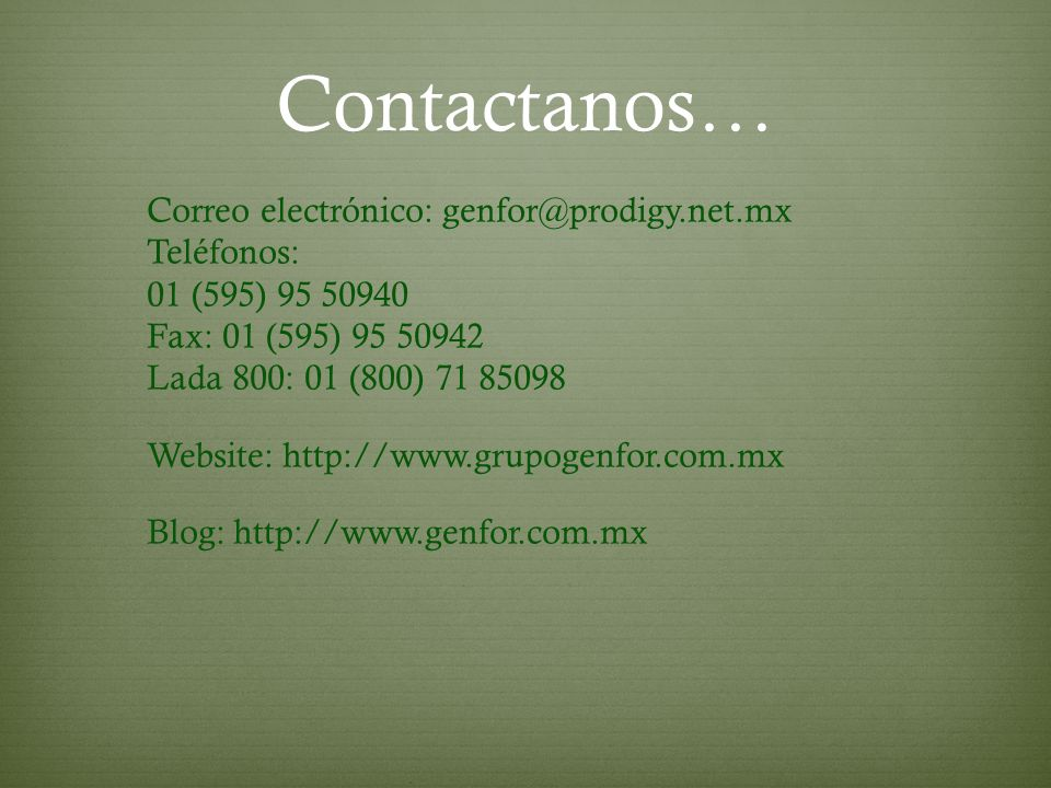 Contactanos…
