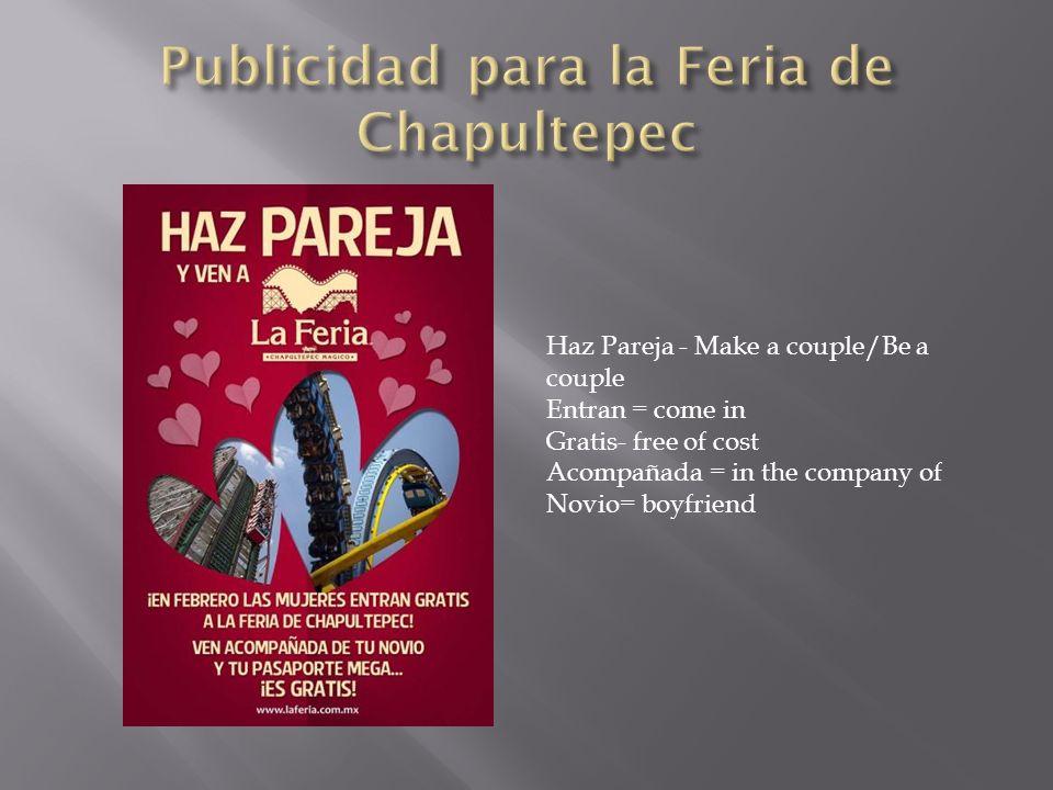 Publicidad para la Feria de Chapultepec