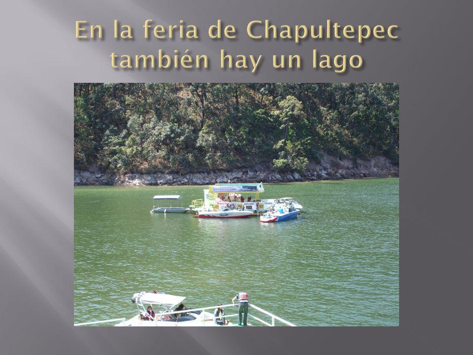 En la feria de Chapultepec también hay un lago
