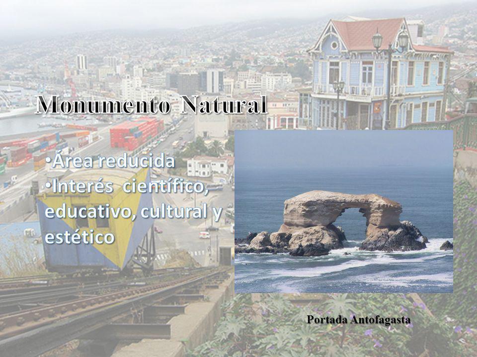 Monumento Natural Área reducida