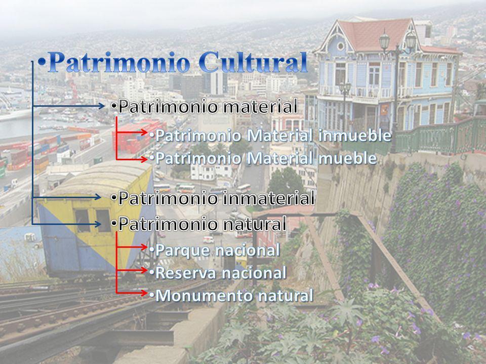 Patrimonio Cultural Patrimonio material Patrimonio inmaterial
