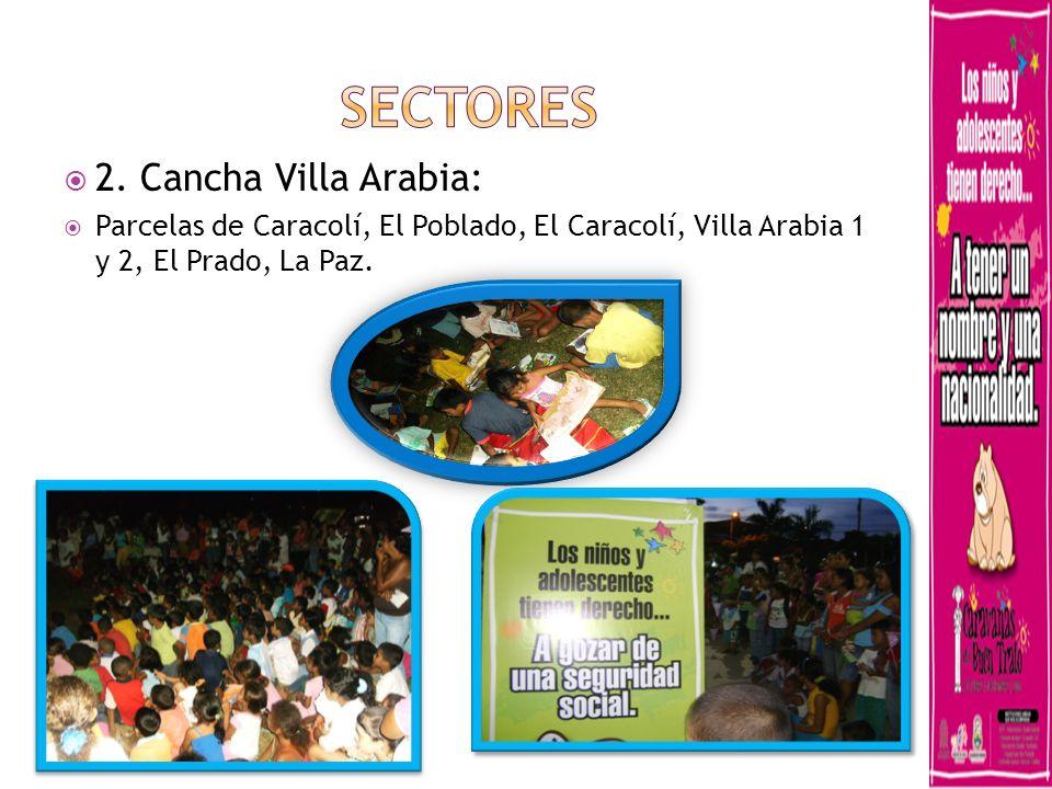 SECTORES 2. Cancha Villa Arabia: