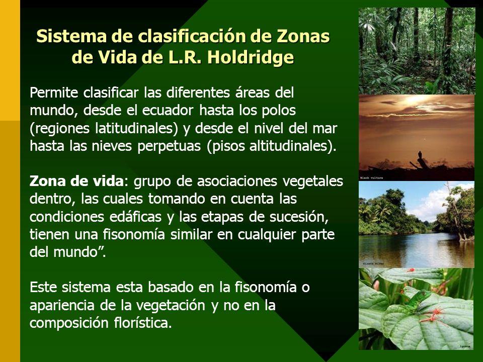 Sistema de clasificación de Zonas de Vida de L.R. Holdridge