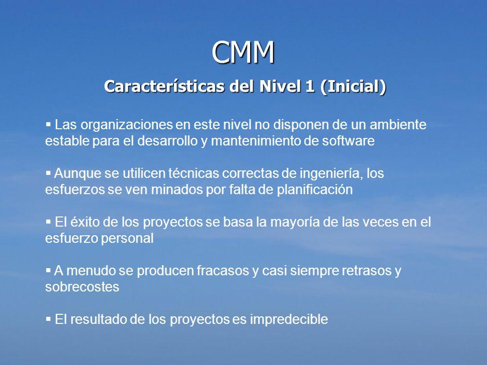Características del Nivel 1 (Inicial)