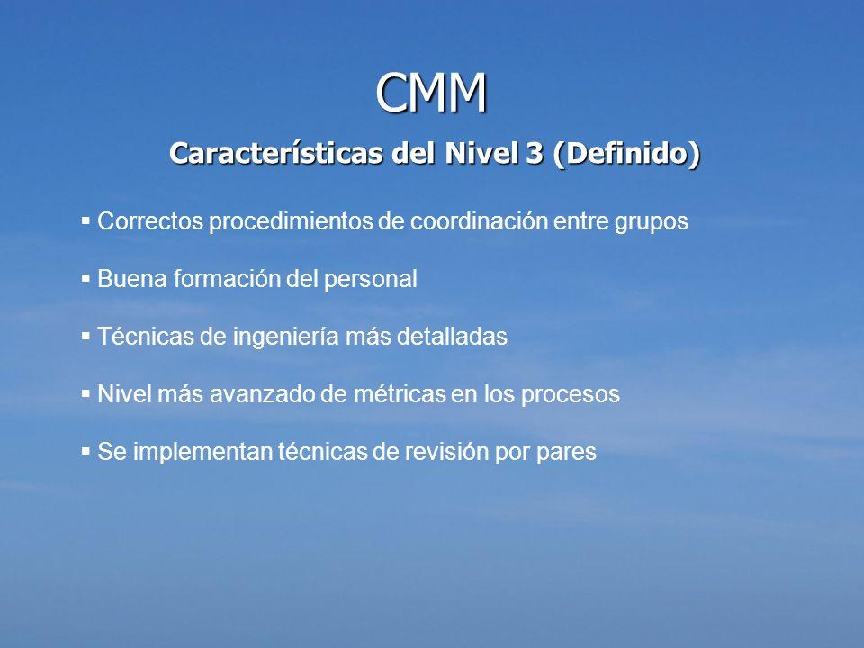 Características del Nivel 3 (Definido)