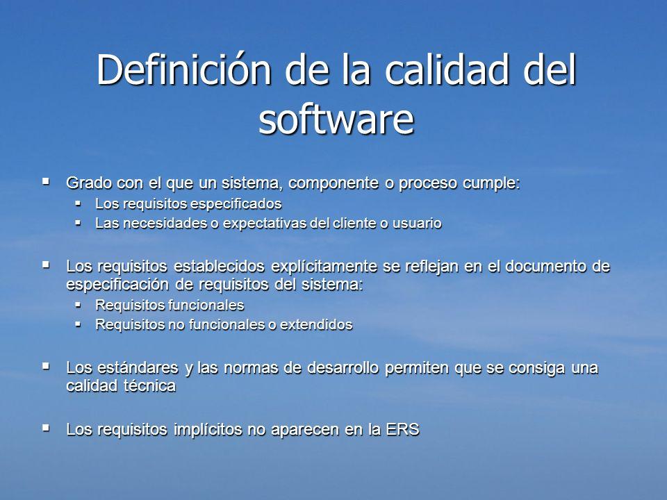 Definición de la calidad del software