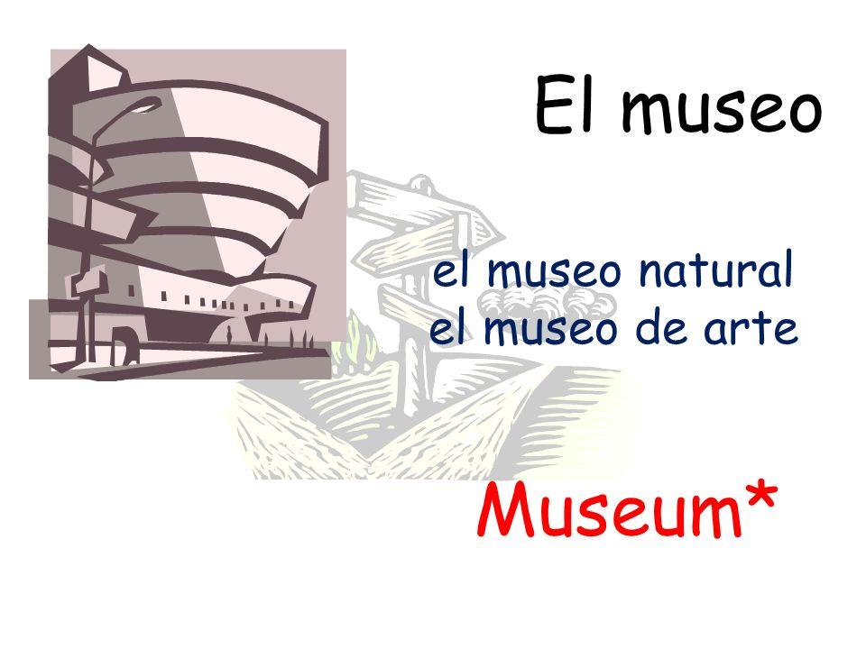 El museo el museo natural el museo de arte Museum*