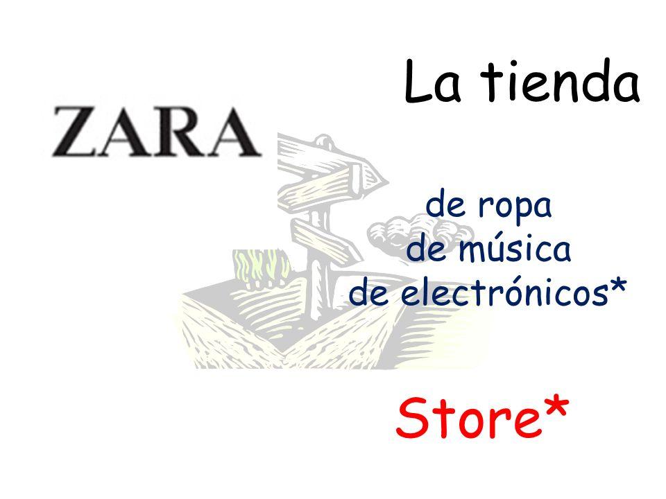 La tienda de ropa de música de electrónicos* Store*