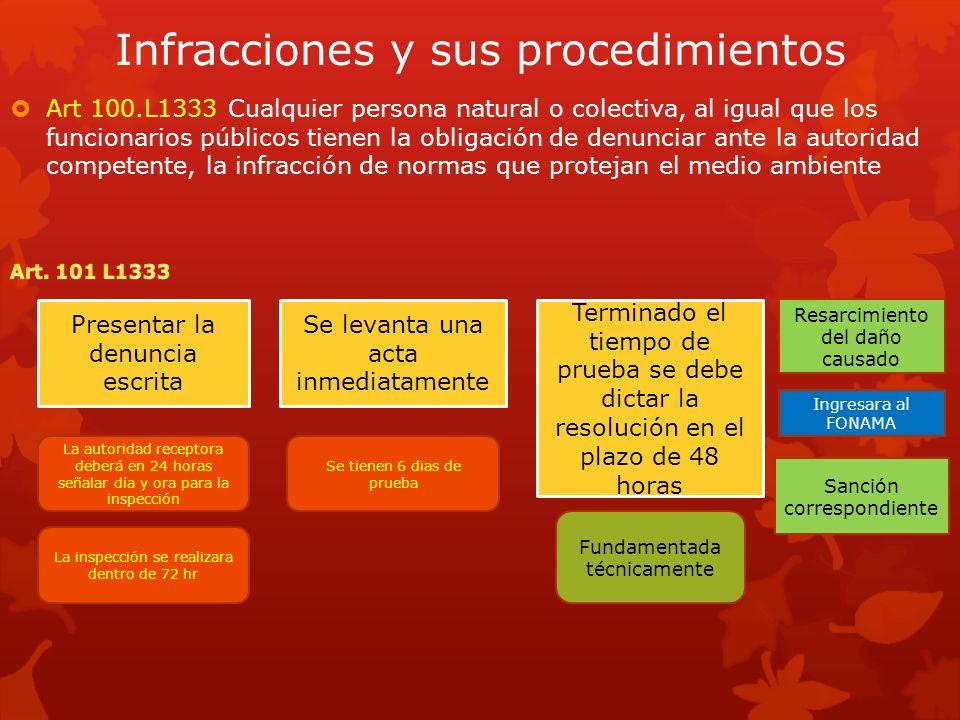 Infracciones y sus procedimientos