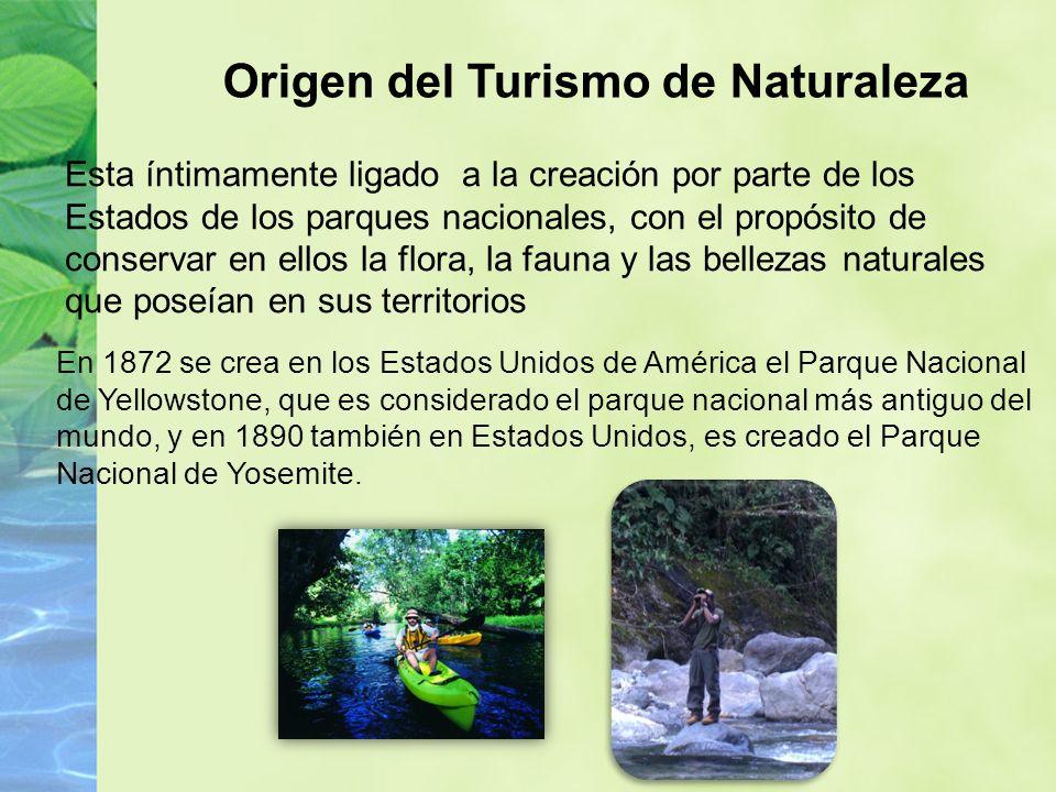 Origen del Turismo de Naturaleza