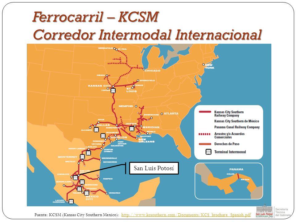 Ferrocarril – KCSM Corredor Intermodal Internacional