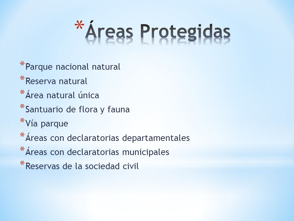Áreas Protegidas Parque nacional natural Reserva natural