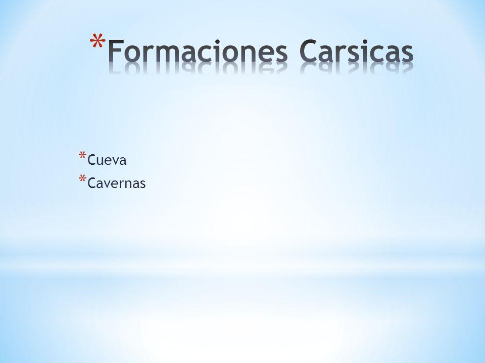 Formaciones Carsicas Cueva Cavernas