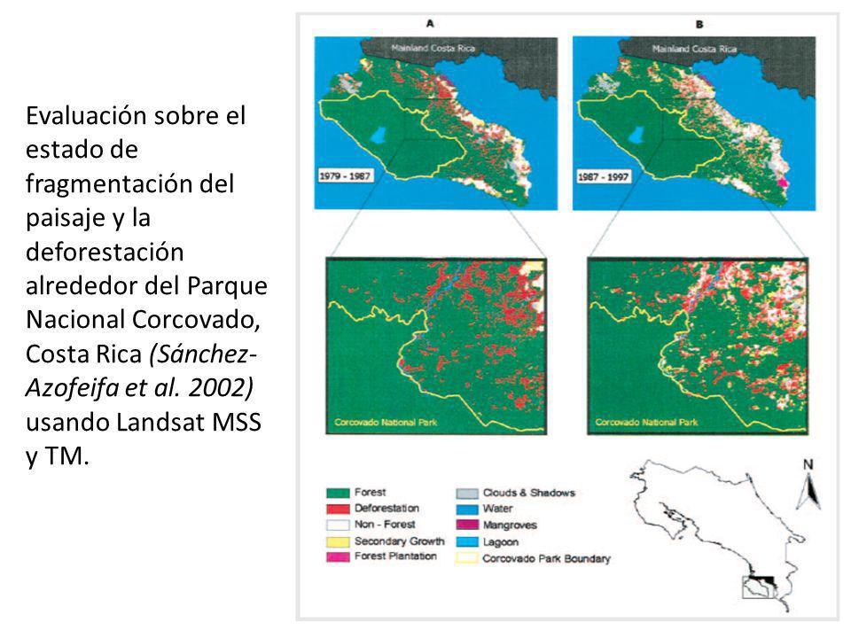 Evaluación sobre el estado de fragmentación del paisaje y la deforestación alrededor del Parque Nacional Corcovado, Costa Rica (Sánchez-Azofeifa et al.